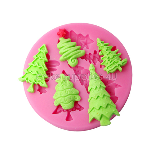 Christmas Cake Decoration Molds : Aliexpress.com : Buy Christmas Tree silicone molds ...