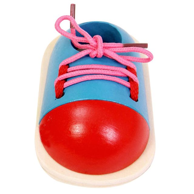 Wooden Shoe for Lacing