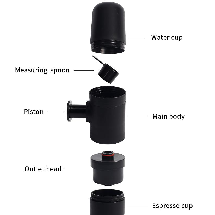 Mini cafetera de mano cafetera portátil Espresso manual máquina de café de mano presión para viajes de oficina en casa