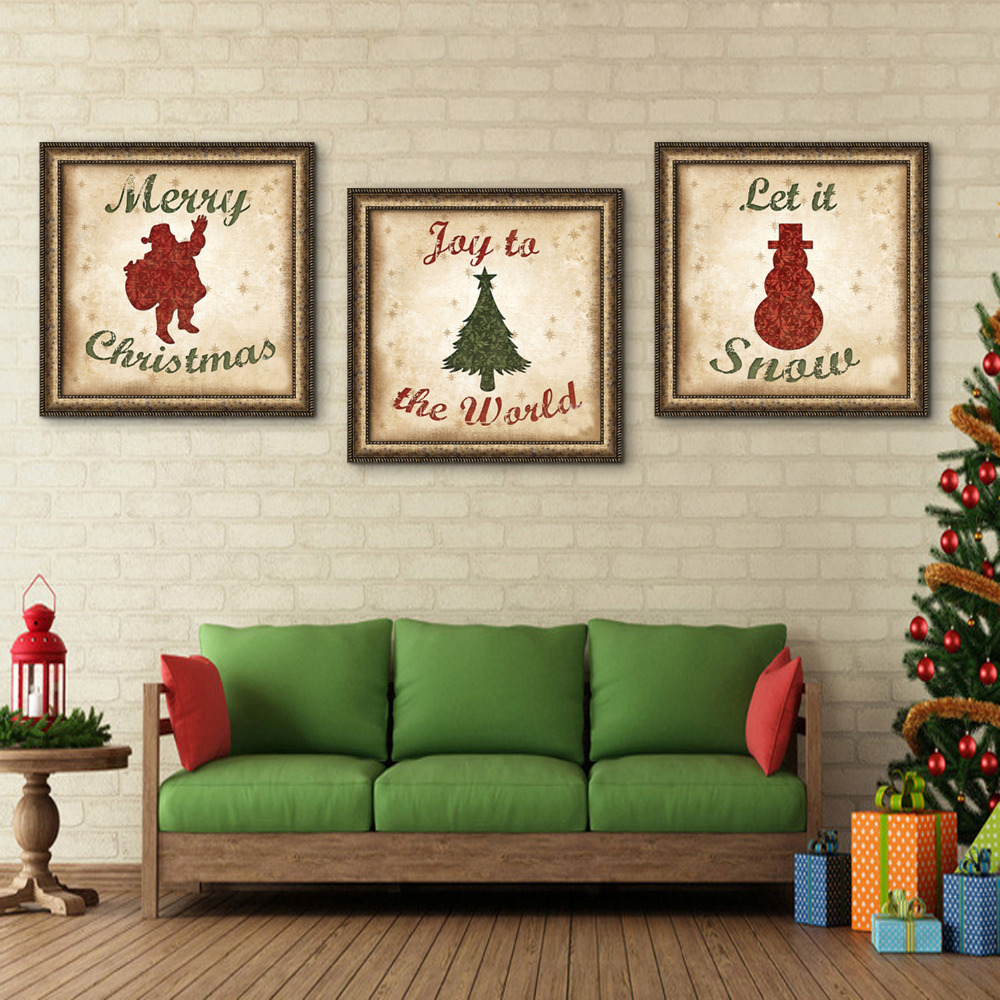 Free shipping e home framed canvas artsanta claus christmas tree free shipping e home framed canvas artsanta claus christmas tree and snowman christmas series framed canvas painting one pcs in painting calligraphy from jeuxipadfo Choice Image