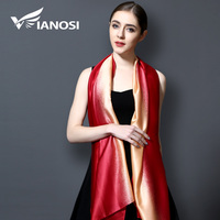 VIANOSI 2017 Brand Bandana Gradient Color Silk Scarf Women Luxury Hijab Shawl Long Scarves Fashion