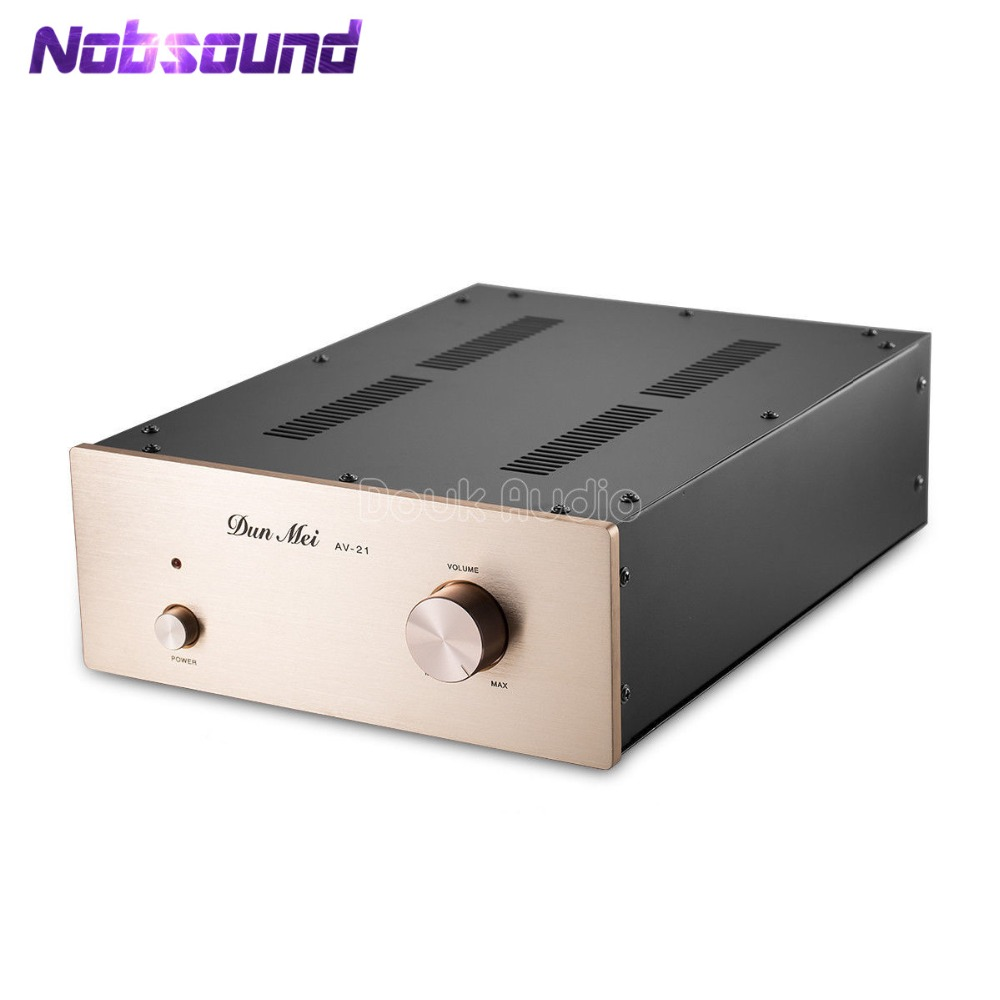 Nobsound Latest 6N11/12AU7 Vacuum Tube Pre-Amplifier HiFi Buffer Stereo Audio Pre-Amp Inspired by Musical Fidelity X-10D 1pcs high quality little bear p5 stereo vacuum tube preamplifier audio hifi buffer pre amp diy new