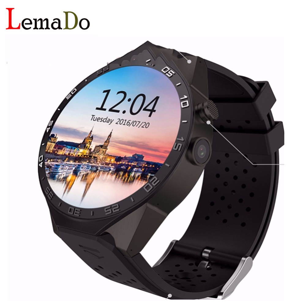KW88 round screen Smart Watch MTK6580 quad core 1 3GHZ WIFI GPS smart watch for Android