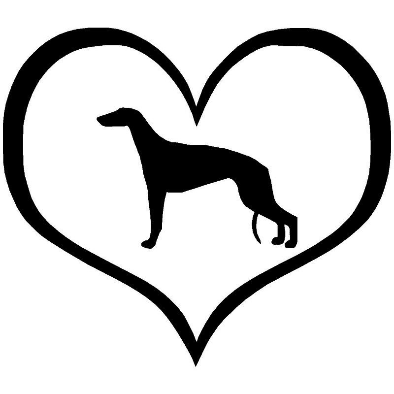 10.9*9.5CM Greyhound Dog Vinyl Decal Reflective Car Stickers Car Styling Bumper Decoration Black/Silver S1-1032