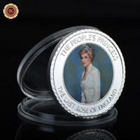 WR Birthday Souvenir Gifts Princess Diana Commemorative Metal Coin The People's Princess Diana 20th Commemorative Art Crafts