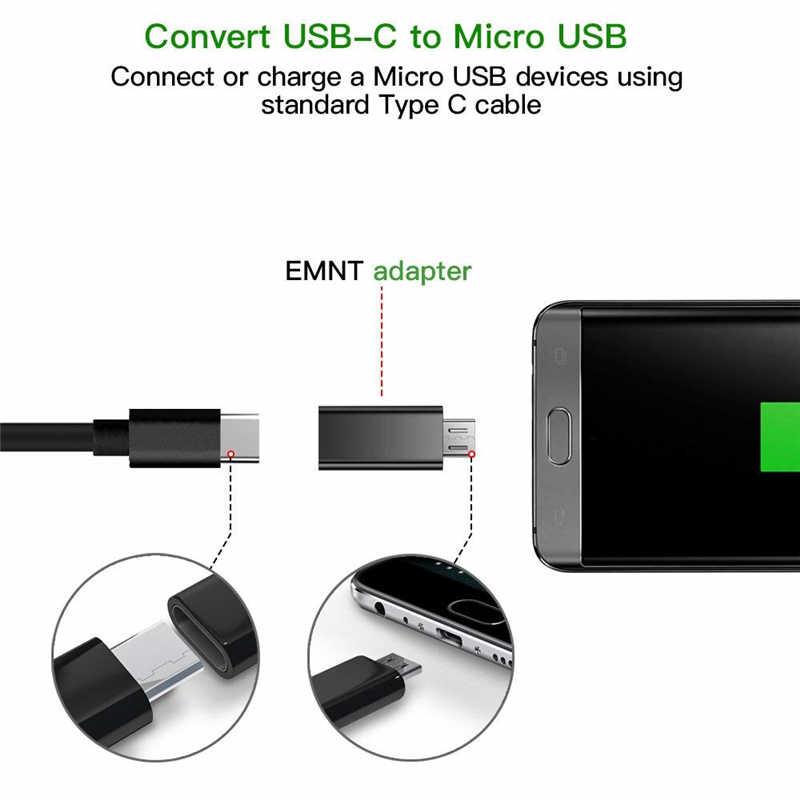 نوع C إلى مايكرو USB أندرويد كابل الهاتف محول شاحن محول لسامسونج شاومي Mi6 Mi5 Usbc إلى نوع c Otg شحن محول