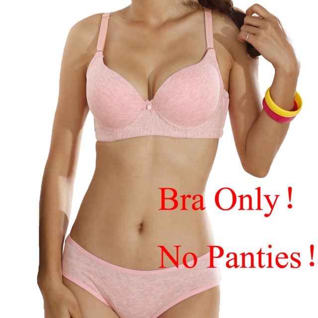 eb0b1f386d New Sexy Women C Cup Bra 3 4 Cup Thin Light Padded V-Neck Seamless Push Up  bra Underwire Lingerie Underwear Soutien Gorge Pink