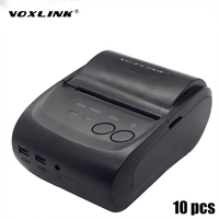 10PC 58mm Mobile Mini Portable Thermal Receipt Printer Android Windows Bluetooth 2 0 Printer Handheld Pos