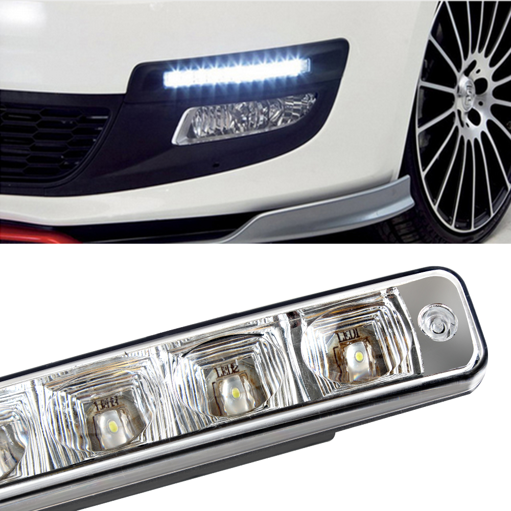 Car drl led daytime running light Super Bright Turn Signals for Chevrolet Ford VW Honda Car-Styling Auto Decoration Accessories daytime running light super bright eagle eye lamp drl auto replacement parts silver black car led light car styling