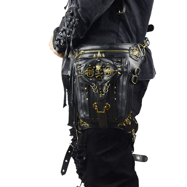 Steampunk Skull Waist Bag Messenger Shoulder Leg Bag Gothic Unisex Female Male Fanny Bag Personality Men Women Crossbody Bags 1
