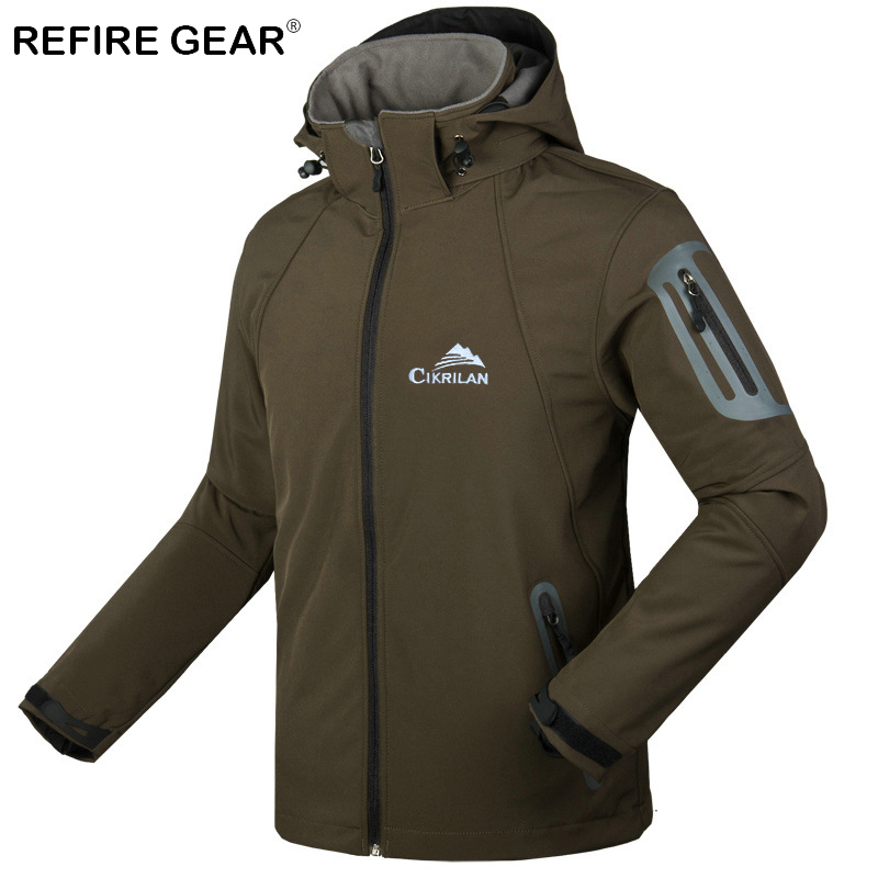 ReFire Gear Winter Windproof Warm Camping Fleece Jacket Men Waterproof Hooded Outdoor Hiking Jacket Fishing Windbreaker Jackets набор проводов для усилителя supra sak 2 10