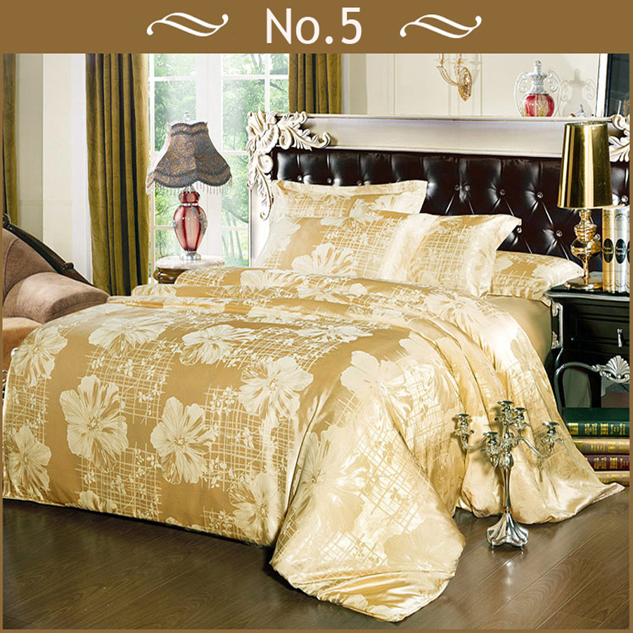 gold bedding set red duvet cover queen king bedspreads luxury silk  - gold bedding set red duvet cover queen king bedspreads luxury silk beddingsetduvet cover set comforter set bed sheetin bedding sets from home garden