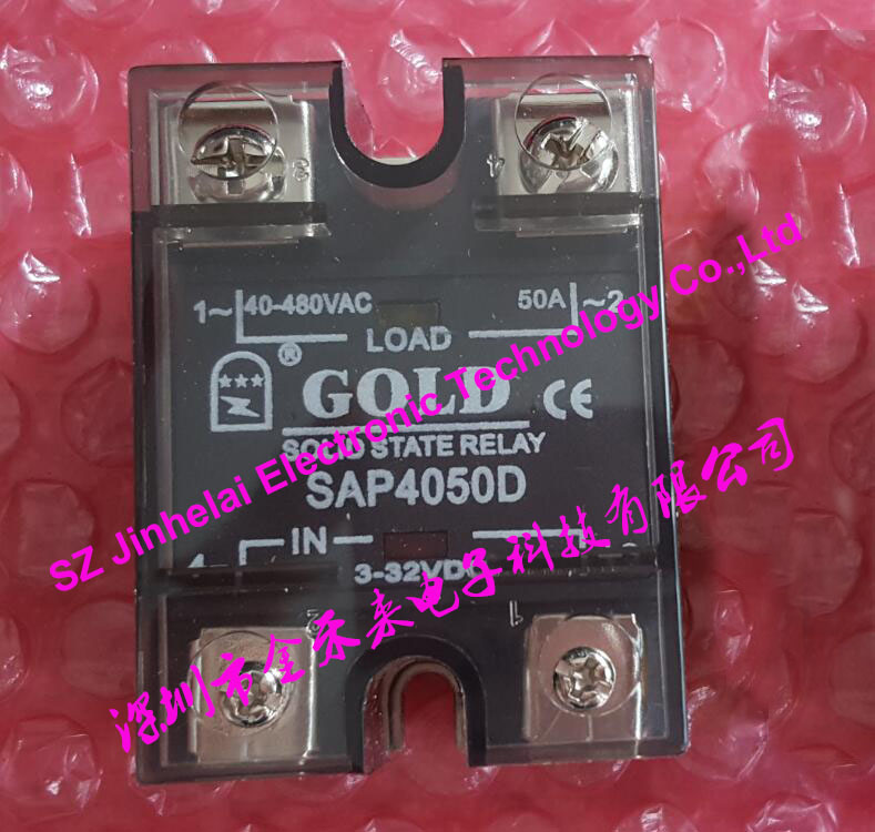 100% New and original SAP4050D GOLD Single phase Solid state relay  50A  40-480VAC 3-32VDC normally open single phase solid state relay ssr mgr 1 d48120 120a control dc ac 24 480v