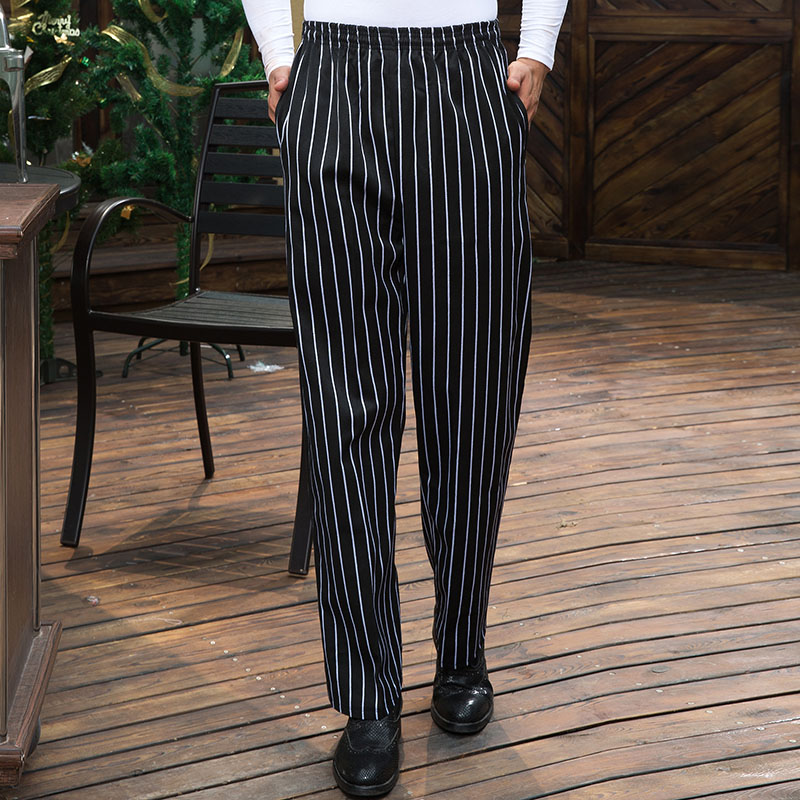Hotel Restaurant Hotel Kitchen Chef Work Pants Pants Bakery Bread Strip Stretch Chef Pants Men Women in Bottoms from Novelty Special Use