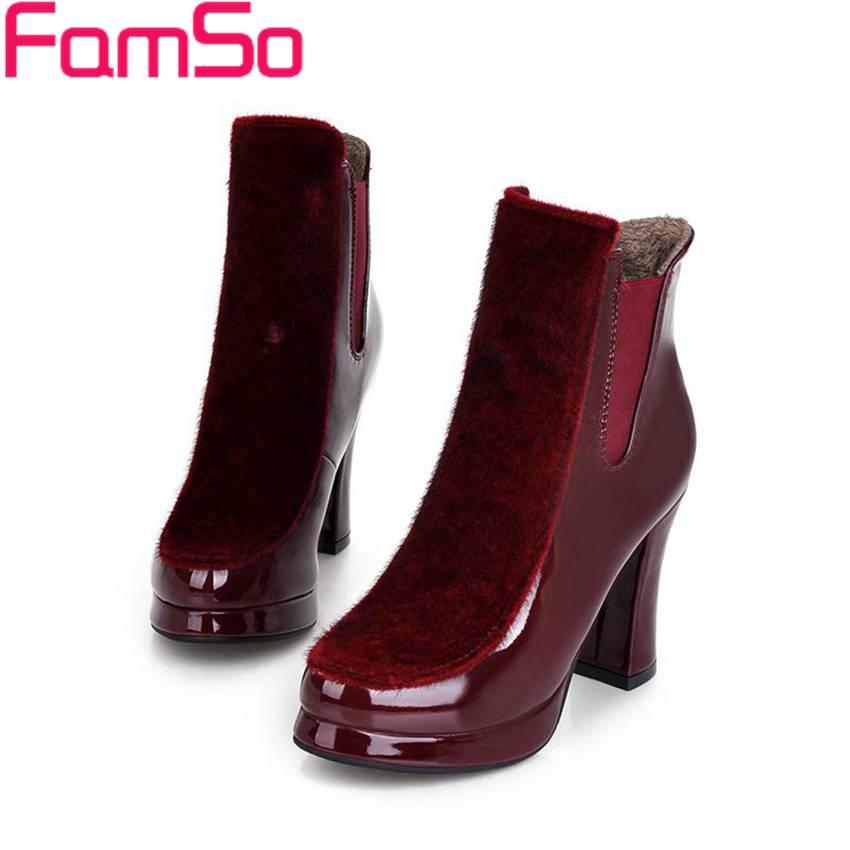 Free shipping 2016 new Sexy font b Women b font Boots Autumn High Thick Heels Wedding