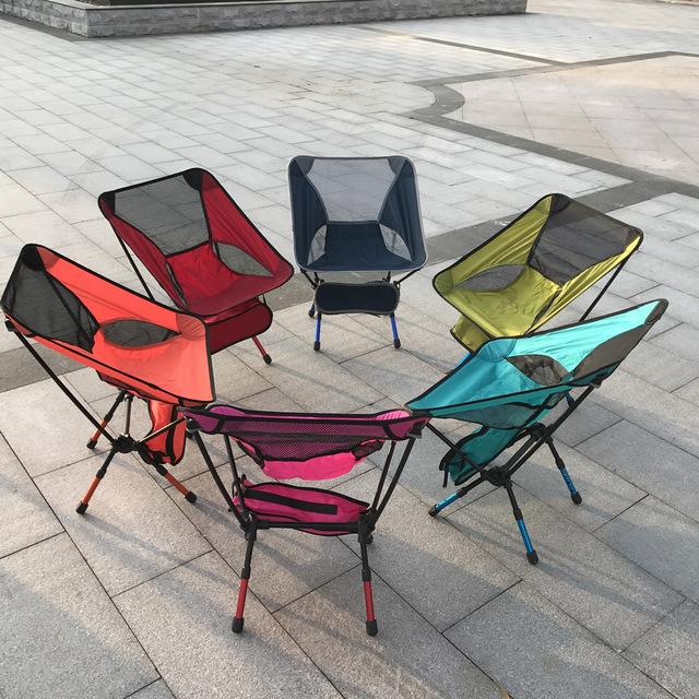 NEW Hot Portátil Light weight Folding Camping Stool Assento Da Cadeira para pesca festival picnic churrasco de praia com saco vermelho orange azul