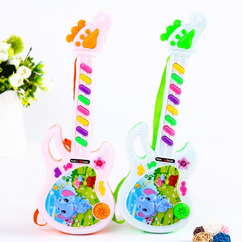 Strumento 1PCS Chitarra Musicale Precoce Educativo Di Simulazione Chitarra Interactive Toys Sviluppo Educativo Per I Bambini I Bambini Regalo Di Compleanno Del Regalo Del Partito Festival Colore