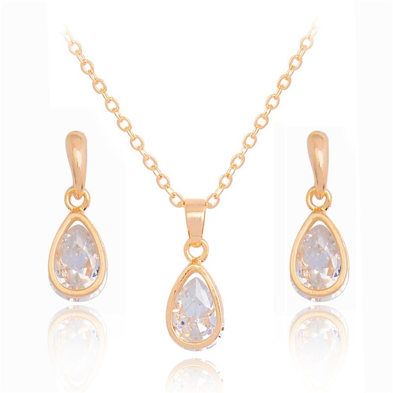 Opale Cristal Plaqué Argent Boucle D/'oreille Collier Creative High-End Jewelry Set DB