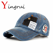 New Fashion Letter Baseball Cap Hip Hop Jean Patch badge embroidery Snapback Cap Mens Sunscreen Hat For Boy Girl Unisex