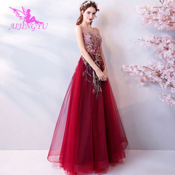 AIJINGYU 2018 floor length free shipping new hot selling cheap ball gown lace up back formal bride dresses wedding dress TJ340