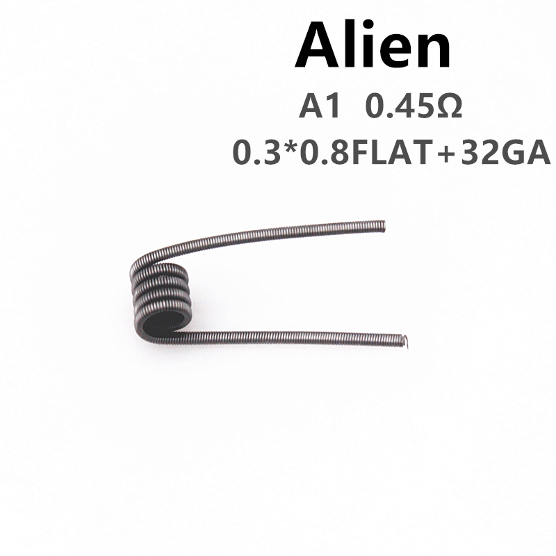 Glotech 50pcs A1 316L Alien Tiger Fused Clapton Premade Coils Hive Twisted Mixed Twisted Prebuilt Coil for DIY RDA RBA Atomizer