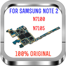 Free Shipping,Europe Version Unlocked & 100% Original Main Board For Samsung Galaxy Note 2 N7100 Motherboard with Chips