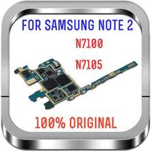 Spedizione gratuita, versione europa sbloccata e scheda madre originale al 100% per scheda madre Samsung Galaxy Note 2 N7100 con chip