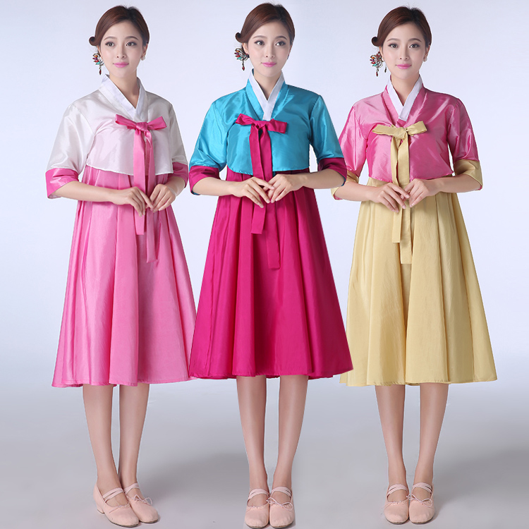f014994624e6 Rushed Sale Polyester Ancient Chinese Costume Dance Costumes Disfraces  South Korean Traditional Hanbok Palace Lady Clothing