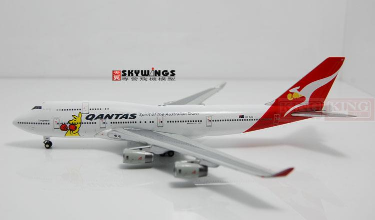 GJQFA1298 B747-400 Australian aviation GeminiJets Boxing Kangaroo commercial jetliners plane model hobby gjcca1366 b777 300er china international aviation b 2086 1 400 geminijets commercial jetliners plane model hobby