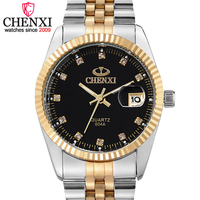 Chenxi Luxury Brand Men Business Watch Men S Stainless Steel Date Hour Gold Wristwatch For Male