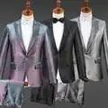 Chaqueta de hombre traje de personalidad masculina abrigo brillante Hombre Ropa de boda adulto Dj Ds usar cantante Host traje de actuación en el escenario DT747
