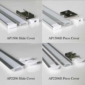 60m (30pcs) a lot, 2m per pcs, led aluminum profile for led strips AP1506 AP2206 - DISCOUNT ITEM  0% OFF All Category