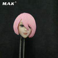 1/6 Scale Pale Skin 2B PS4 NieR Automata Anime Female Head Sculpt Toy With Pink Hair Mould for 12'' Action Figure Body