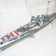 Высокое качество Второй мировой войны Италия Giuseppe Garibaldi light cruiser бумажный модельный комплект
