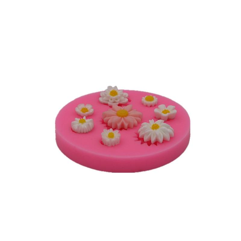 Små blomsterkage silikone skimmel håndlavet chokolade skimmel kager - Køkken, spisestue og bar - Foto 2
