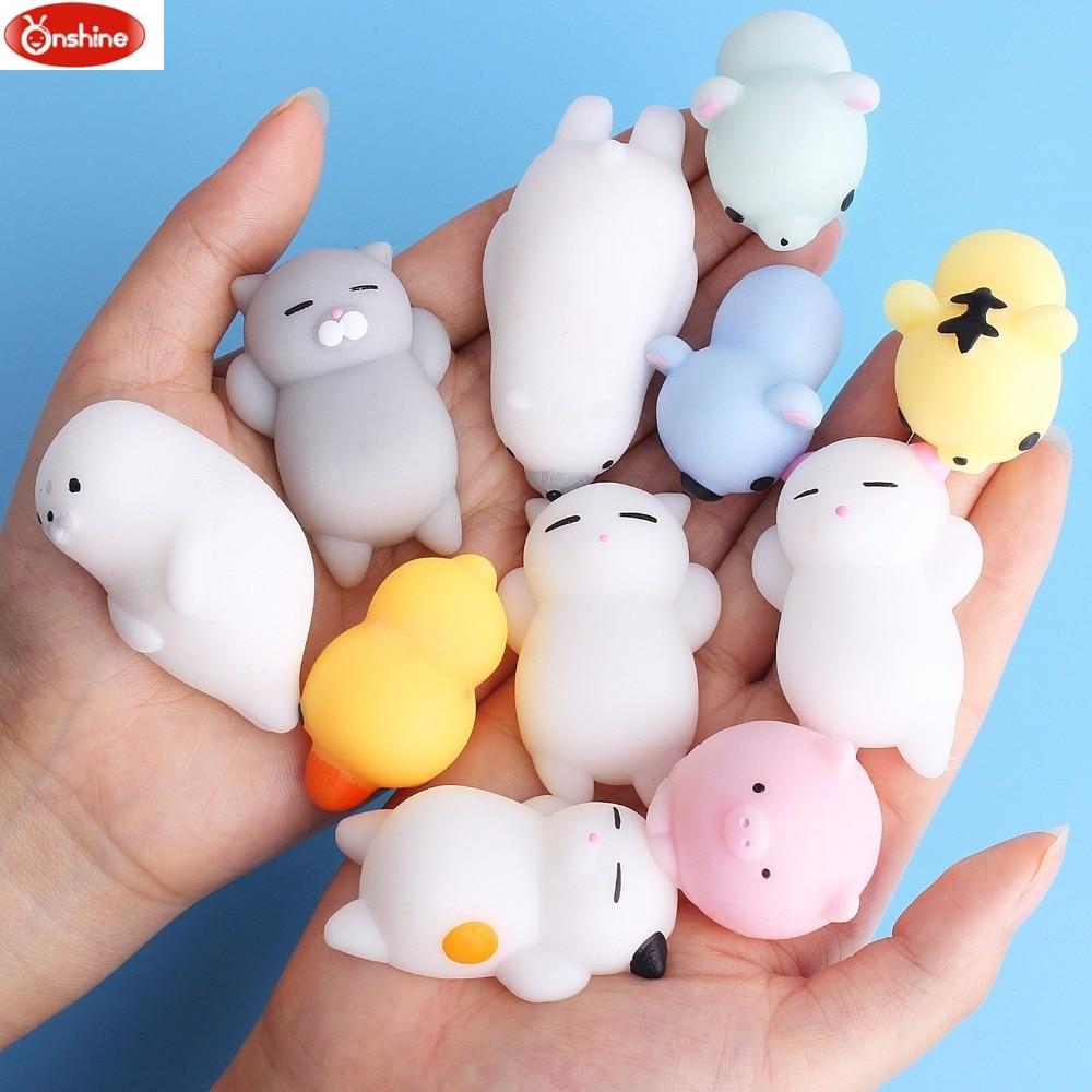 Yumuşacık hayvan oyuncak sıkmak Mochi yükselen antistres Abreact topu yumuşak yapışkan sevimli komik hediye