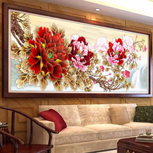 Large size picture Beautiful peony diamond Embroidery diy painting mosaic 3d cross stitch pictures H424