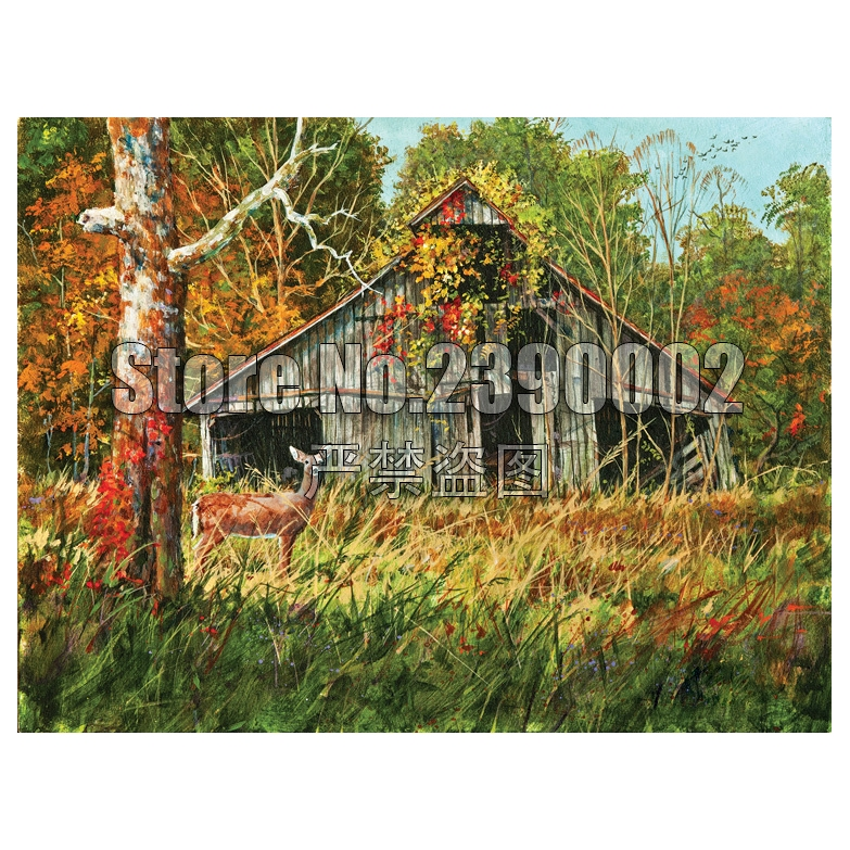Diy Diamond Painting Fall Cabins Cross Stitch Embroidery Wall Sticker Diamond Mosaic Cottages Houses Christmas Crafts Rhinestone in Diamond Painting Cross Stitch from Home Garden