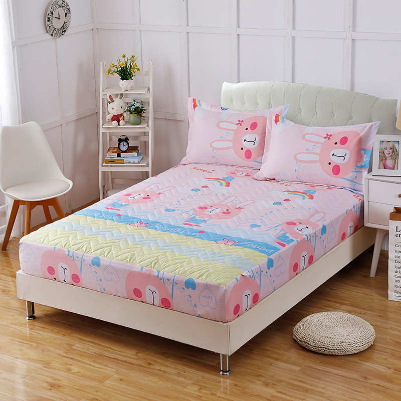 The Latest Fashion Cartoon Style Hot 100% Polyester Fiber Comfortable Soft Fitted Sheet + Pillowcase Bedding Three-Piece