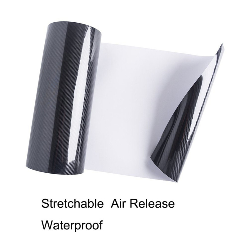 Classic upgrade High Glossy 5D Carbon Fiber Vinyl Car Wrap Film Interior DIY Bubble Free Air Release 1.52*20m/roll