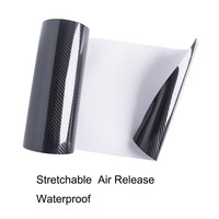 Classic upgrade High Glossy 5D Carbon Fiber Vinyl Car Wrap Film Interior DIY Bubble Free Air Release 1.52*20m/roll