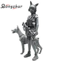 Dongzhur 1/35 Japanese Beauty Girl Us Military Equipment Resin Soldier Model 1/35 3d Resin Figures Diy Handwork Toy(China)