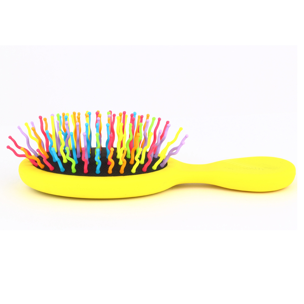 MY GIRL Rainbow small wet hair comb colorful bending pins Hair extention brush curve oval Hair brush