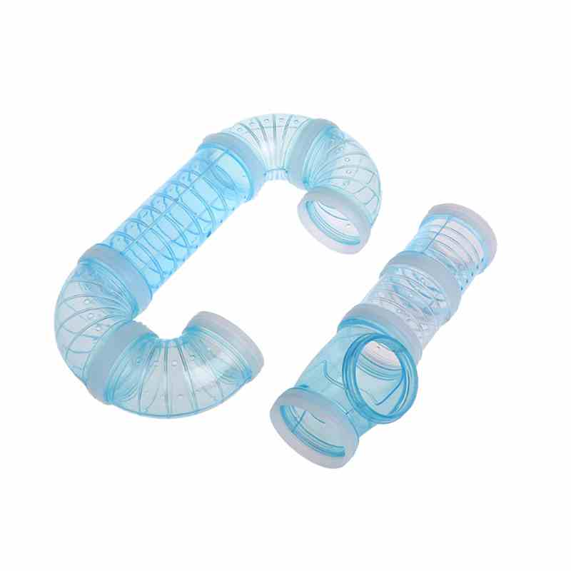 U-type Plastic Pipe Line Tubes Training Playing Connected External Tunnels Toys For Smal ...