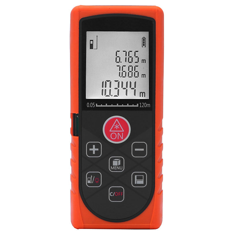 ФОТО 120m 394ft laser Digital Distance Meter Rangefinder,High Precision Range Finder Area Volume Measurer Level Bubble