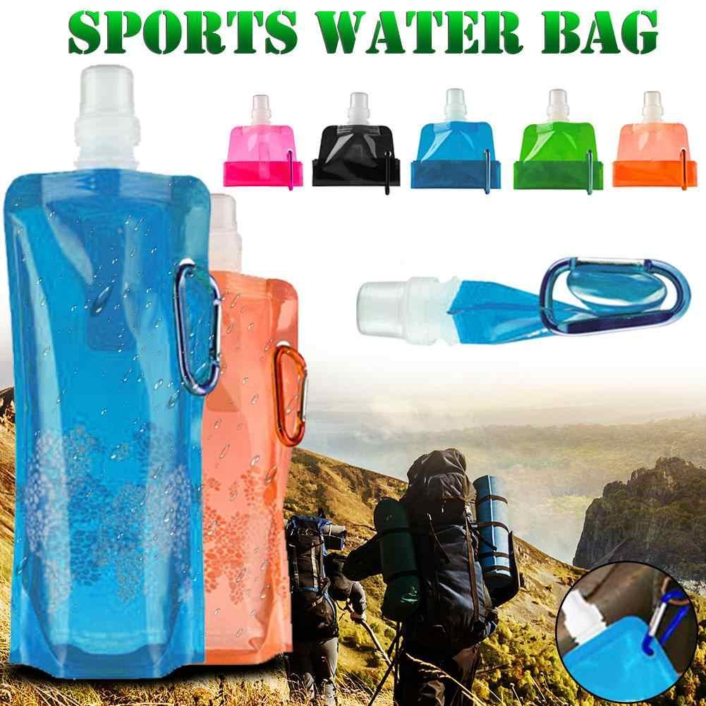 زجاجة مياه رياضية خفيفة قابلة لإعادة الاستخدام للسفر والتخييم في الهواء الطلق وتسلق الجبال قابلة للنقل وللسفر والتنزه وغلاية مياه للشرب