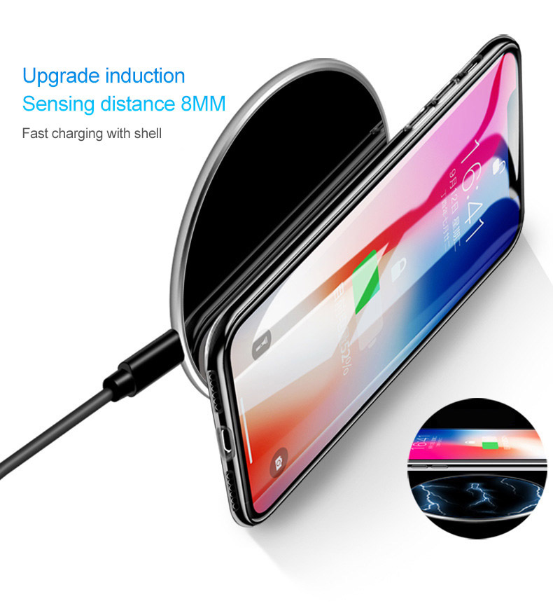 !ACCEZZ 10W Qi Wireless Charging Pad For iPhone X 8 Samsung Galaxy S9 S8 Plus S7 S6 Note 8 7 5 Ultra thin Quick Wireless Charger