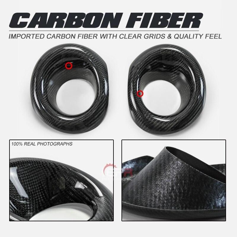 Revêtement de protection antibrouillard avant en Fiber de carbone Honda Civic FK8 finition brillante Kit de dérive de réglage des fibres