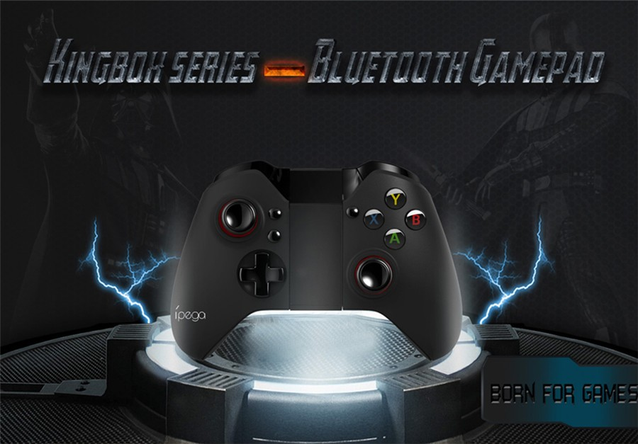 PG-9017S Wireless Bluetooth 3.0 Gamepad Game Console with Stand for Android / iOS / Android TV / PC wireless gamepad romain marucchi foino game and graphics programming for ios and android with opengl es 2 0