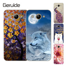 Geruide Soft Silicone TPU Huawei Y3 2017 Case Cover CRO-L22 14 Patterned Painted Phone Back Protective Case FOR Huawei Y3 2017